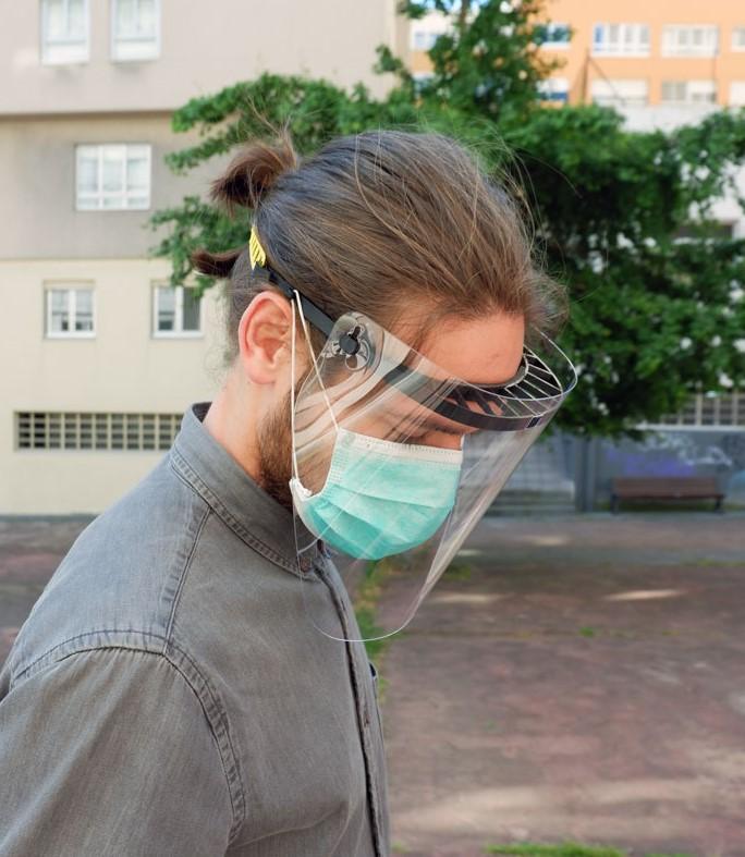 pantalla protectora, protección facial, visera protectora, pantallas faciales, comprar pantalla de protección facial